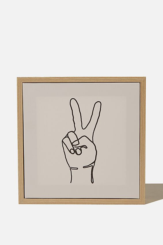 24 X 24 Mini Canvas Art, PEACE HAND