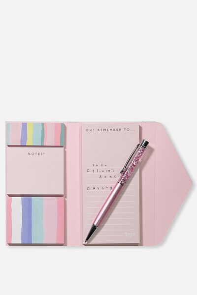 Pocket Sticky Note Set, PINK