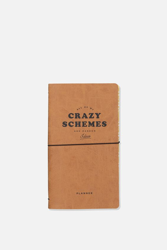 Undated Ideas Planner, MID TAN