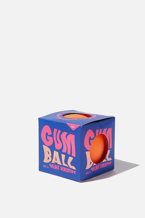 Gum Ball Squishy, HEAT SENSITIVE ORANGE