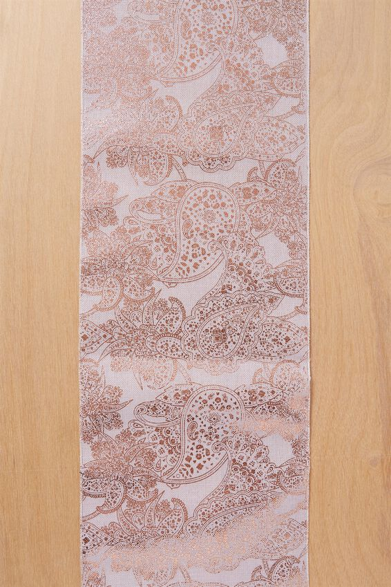 Printed Table Runner 2.5M X 28Cm, PAISLEY