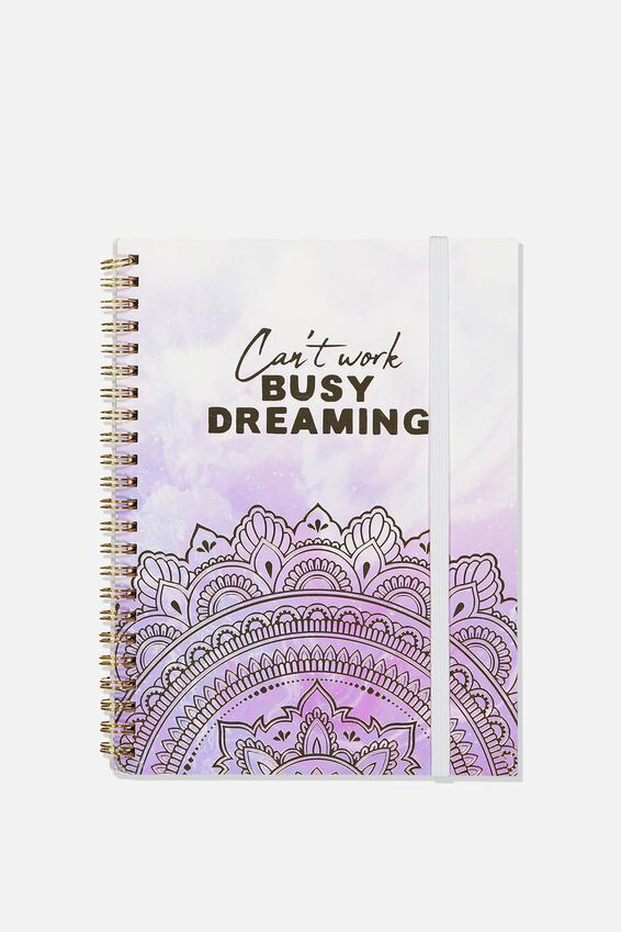 Small Spinout Notebook - V, BUSY DREAMING