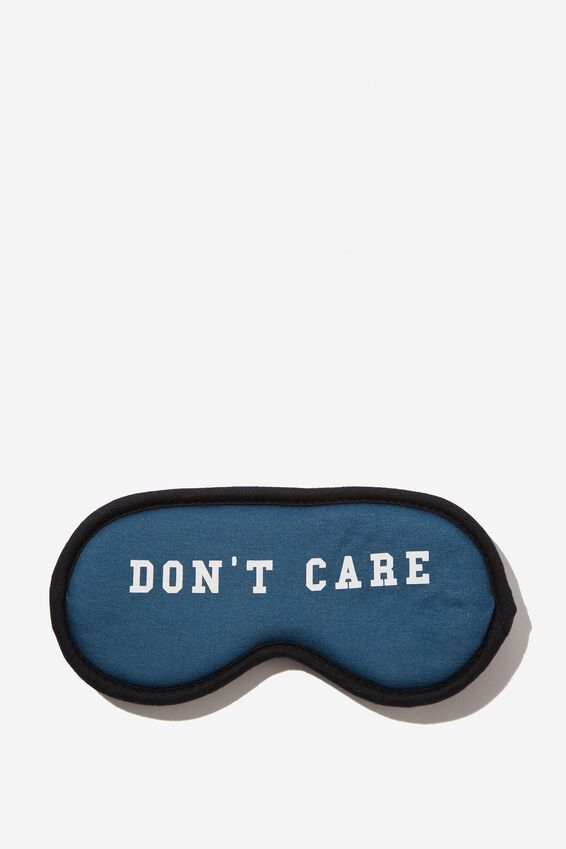Premium Sleep Eye Mask, DON'T CARE