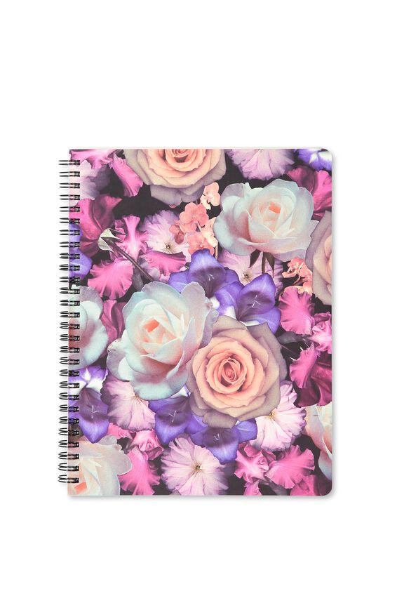 B5 Premium Spiral Notebook, FLORAL