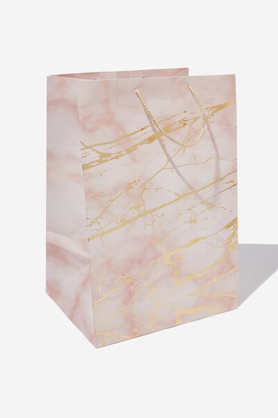 Large Stuff It Gift Bag, MARBLE PINK GOLD