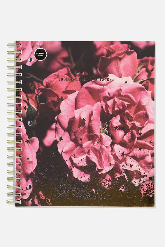 College Ruled Campus Notebook, PEONIE ROSE