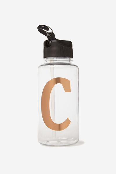 Alphabet Drink Bottle, ROSE GOLD C