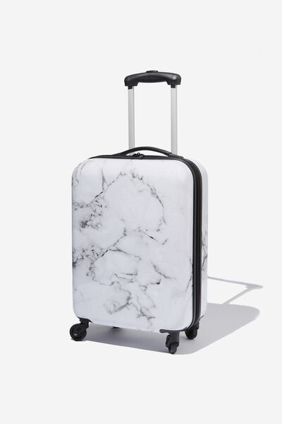 Tsa Small Suitcase, BLACK & WHITE MARBLE
