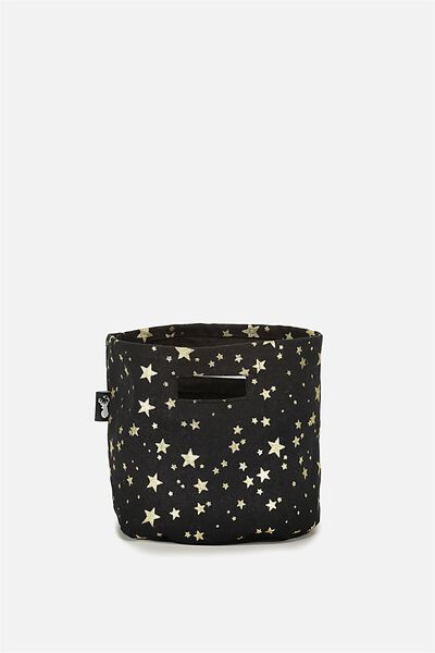 Small Store It Basket, BLACK GOLD STARS