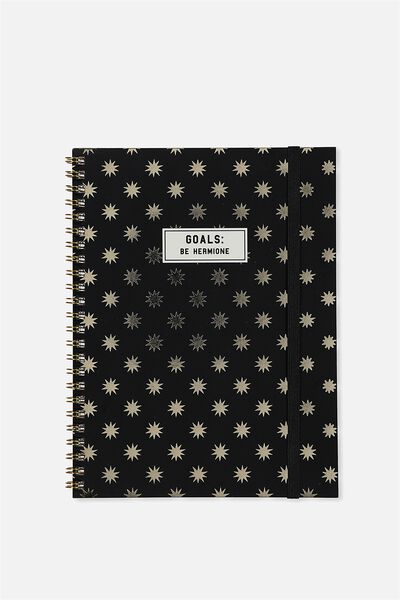 A5 Spinout Notebook - 120 Pages, LCN GOALS BE HERMIONE