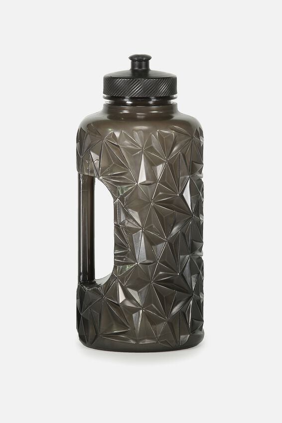 Faceted Drink Bottle, BLACK