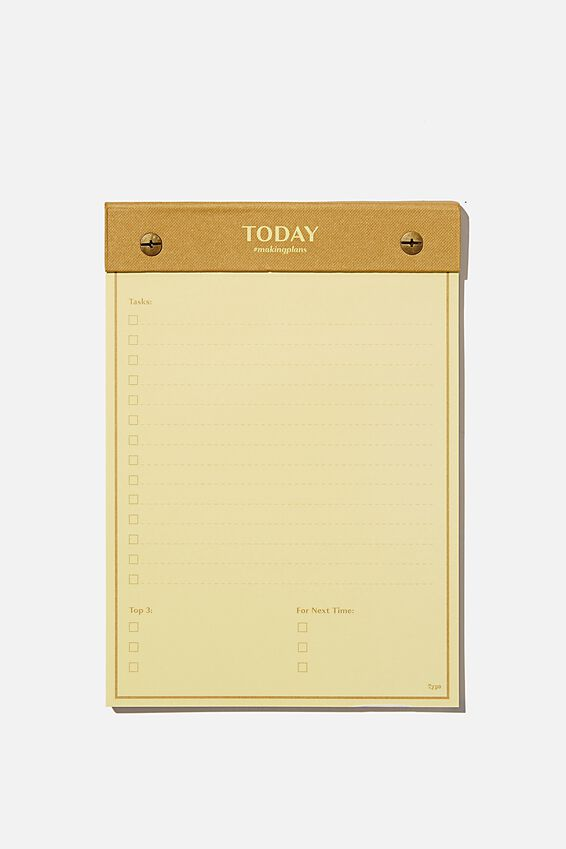 A5 Desk Planner, TODAY