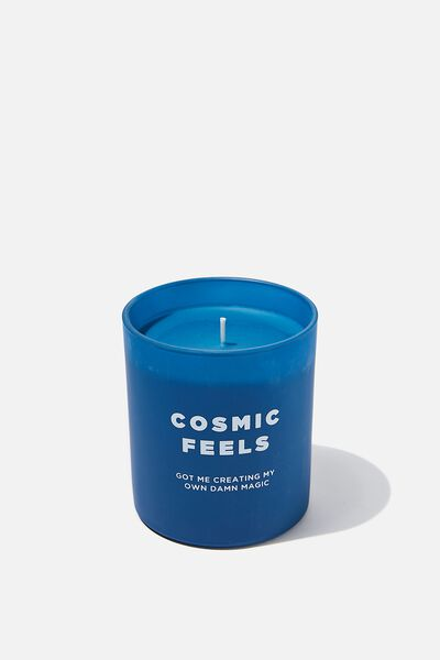 Solid Quote Candle, COSMIC FEELS