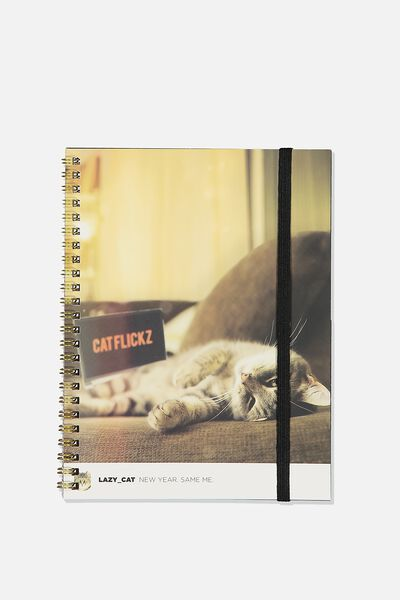 A5 Spinout Notebook Recycled, CAT FLIX