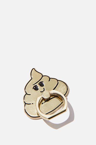 Enamel Phone Ring, GOLD POO