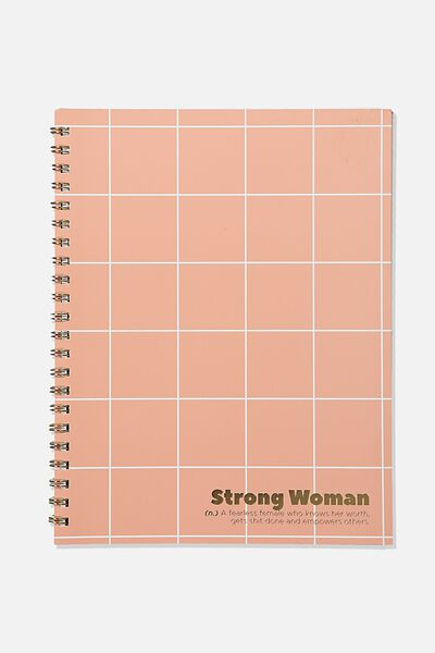 College Ruled Campus Notebook, STRONG WOMEN
