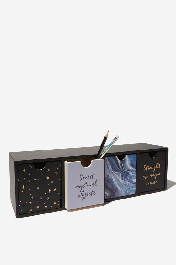 Quick Desk Drawer Storage, PURPLE MARBLE