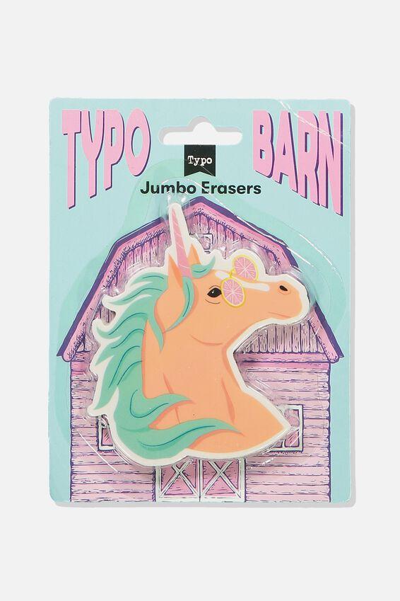 Jumbo Eraser, UNICORN HEAD