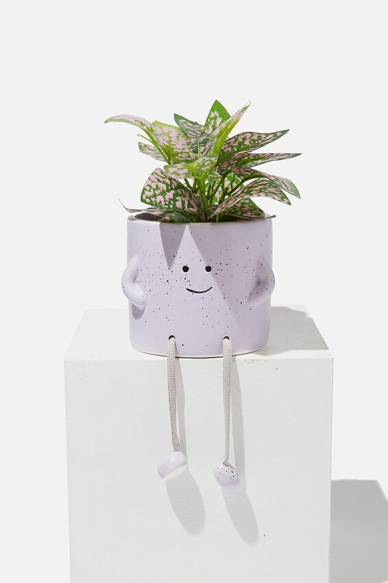 Midi Shaped Planter, PALE LILAC ROPE LEGS