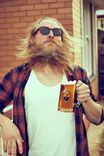 Beer Glass Mug, FERAL COCK!