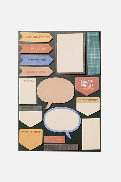"""A5 Shaped Sticky Note (8.27"""" x 5.83""""), DEEP GREEN"""