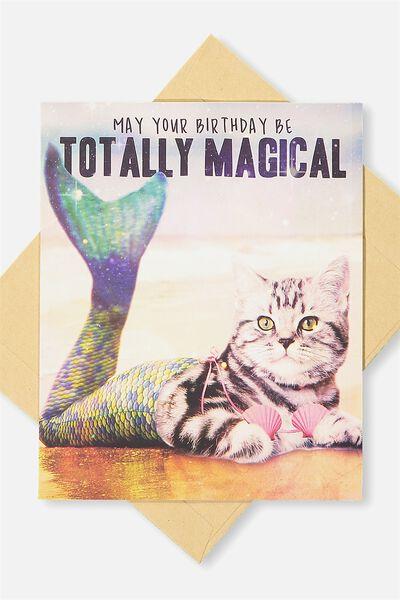 Funny Birthday Card MAGICAL MERCAT
