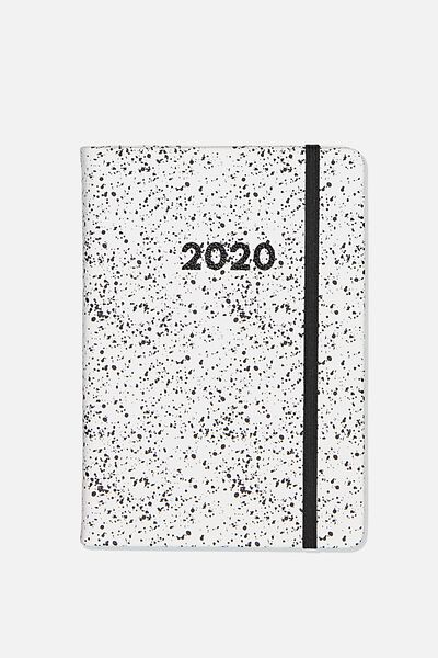 2020 A5 Daily Buffalo Diary, WHITE SPLATTER