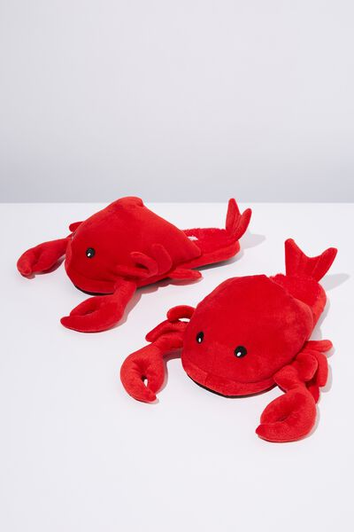 Novelty Slippers, LOBSTER