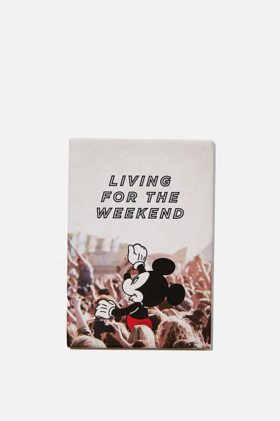 Disney Quirky Magnets, LCN DIS LIVING FOR THE WKEND