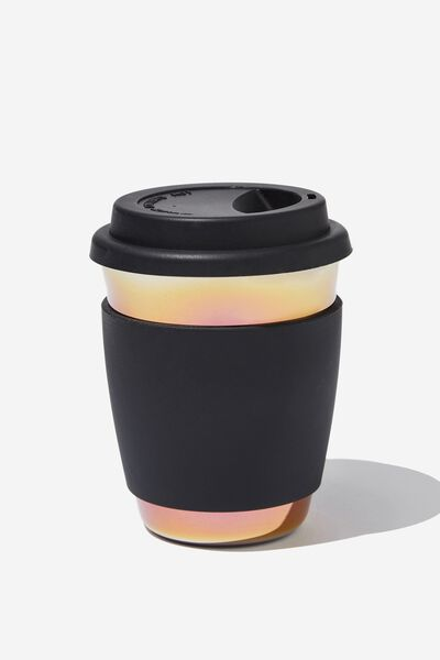 All Day Travel Cup 12Oz, BLACK OIL SPILL
