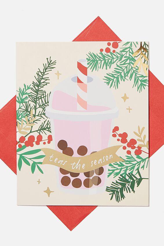 Christmas Card 2020, BUBBLE TEAS THE SEASON