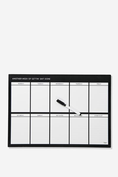A3 Extra Large Magnetic Planner, BLACK GETTING SHIT DONE!