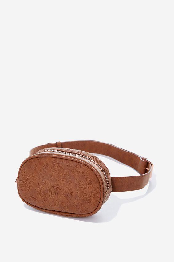 Belt Bag, TOOLED BUTTERFLY