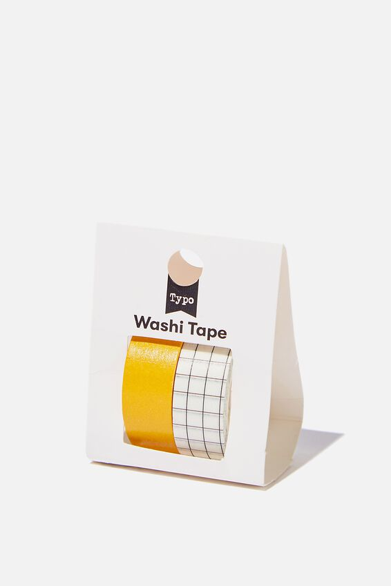Washi Tape 2Pk, MUSTARD