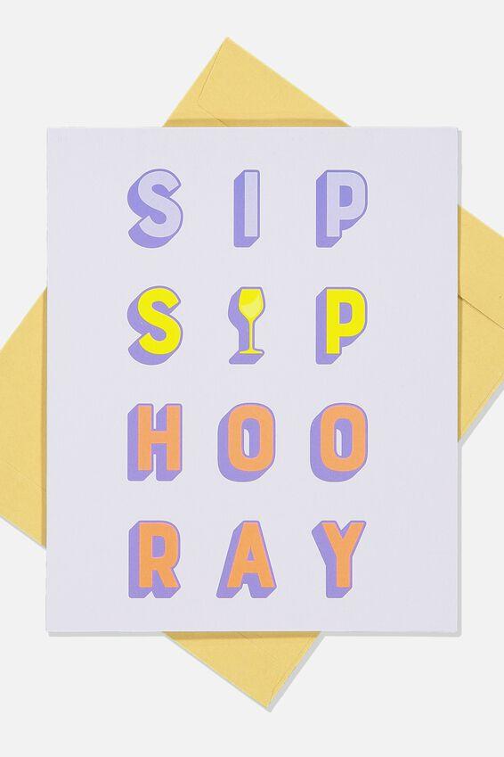 Congratulations Card, SIP SIP HOORAY!