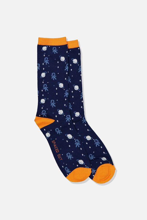 Mens Novelty Socks, SPACED OUT