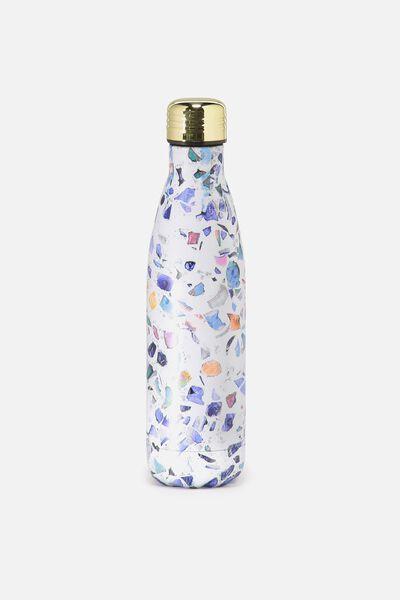 Metal Drink Bottle, TERRAZZO