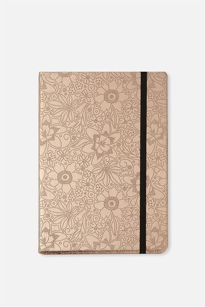A5 Buffalo Journal, ROSE GOLD FLORAL EMBOSSED