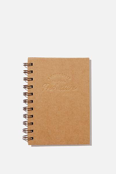 Mini Stone Paper Notebook, FEEL PRODUCTIVE