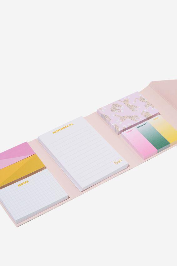 Pocket Sticky Note Set, TERRAZZO BRIGHTS