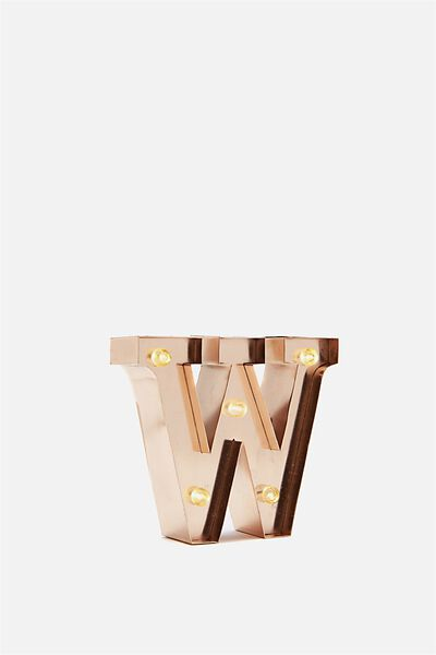 """Mini Marquee Letter Lights 3.9"""", ROSE GOLD W"""