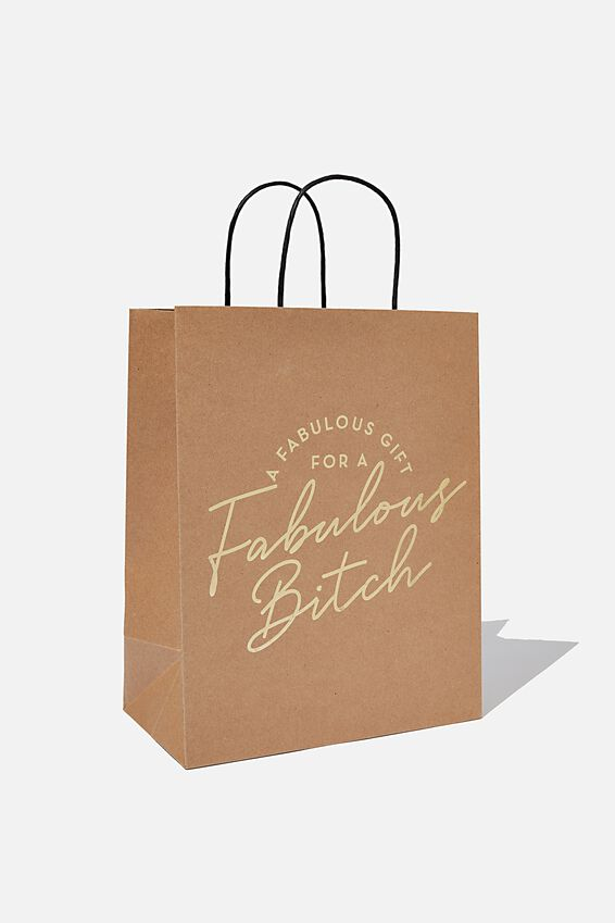 Get Stuffed Gift Bag - Medium, HB FABULOUS BITCH