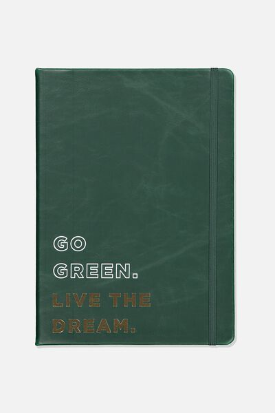 Large Buffalo Journal, GO GREEN LIVE THE DREAM