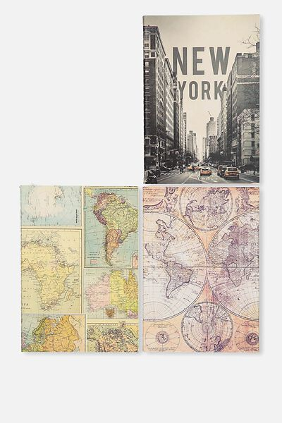 3Pk A6 Notebooks, MAP