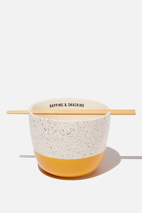 Novelty Noodle Bowl, NAPPING & SNACKING