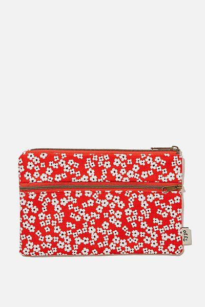 Archer Pencil Case, CHERRY BLOSSOM TRUE RED