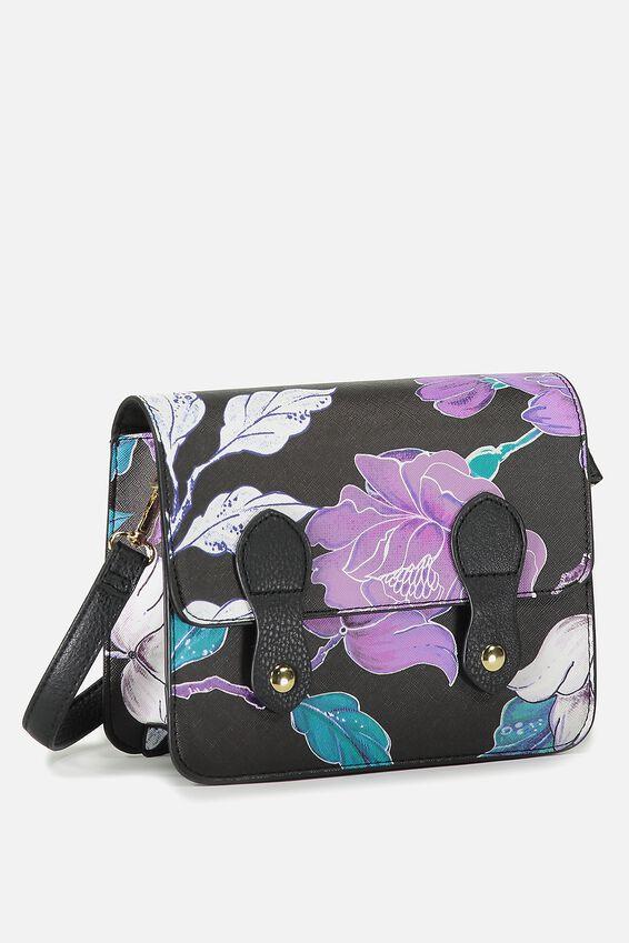 Mini Buffalo Satchel Bag, LUSH FLORAL