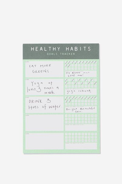 A5 Wellness Tracker, HEALTHY HABITS