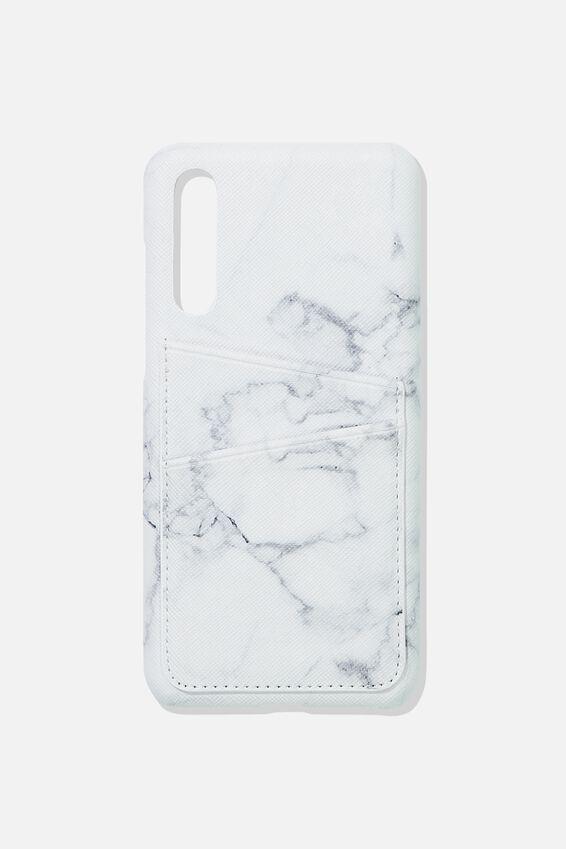 Cardholder Phone Case Huawei P20 Pro, MARBLE