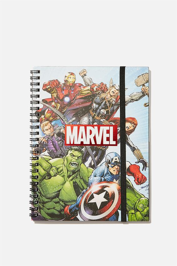 A5 Marvel Spinout Notebook Recycled, LCN MARVEL